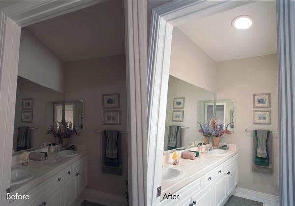 Bathroom sun pipe install natural daylight