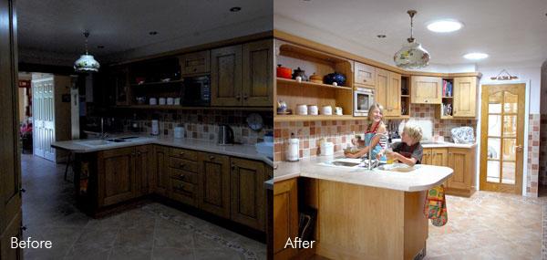 Kitchen sun pipe installation natural daylight