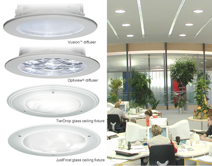 Light Tube Diffuser Examples Office Environment