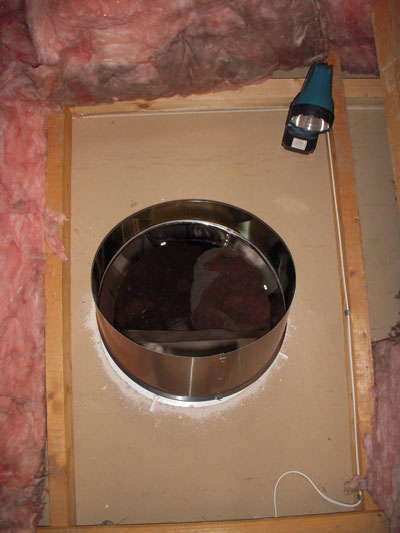 Sun Pipe Installation Ceiling Hole