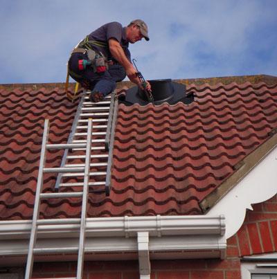 Sun Pipe Installation Roof Flashing
