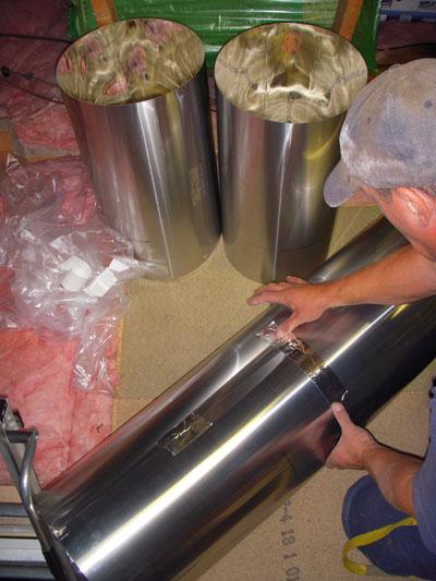 Sun Pipe Installation Tunnel Tape Join